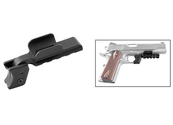 Adapter for 1911 Pistols without Rails - Adds a Picatinny/Weaver Rail for Lasers