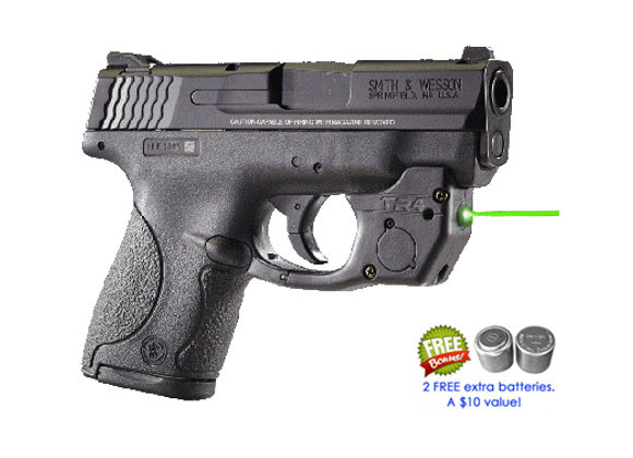 TR4-G Green Laser for Smith-Wesson Shield 9mm / .40 (not .45 or EZ) S&W