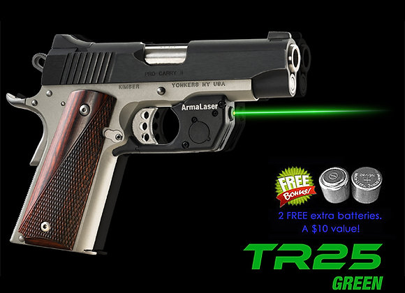 TR25-G Green Laser for 1911 Full Size & Compact Springfield & Kimber Pistols