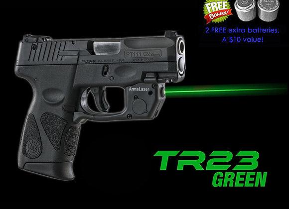 TR23-G Green Laser Sight for Taurus PT111 / PT140 Millennium G2 & G2c - Touch On