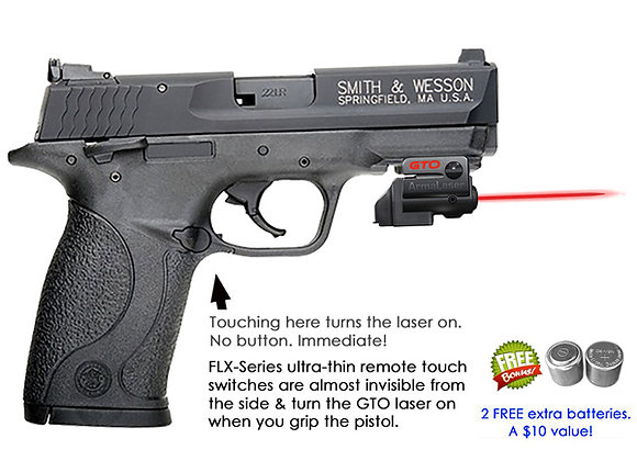 ArmaLaser GTO Red Laser Sight with Flex Touch Activation for S&W Pistols