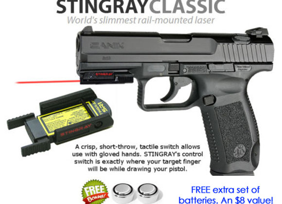 ArmaLaser Stingray RED LASER for Century Arms Canik TP9 Pistols