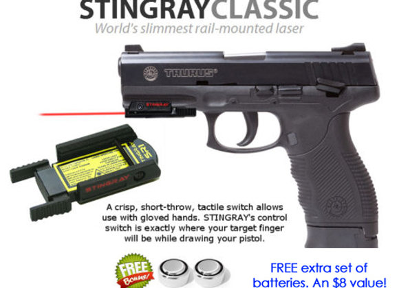 ArmaLaser Stingray Red Laser Sight for Taurus 24/7 4.25, 24/7 5.25, 24/7 G2 4.2