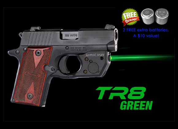 TR8-G Green Laser Sight for SIG Sauer® P238 & P938 with Grip Touch Activ