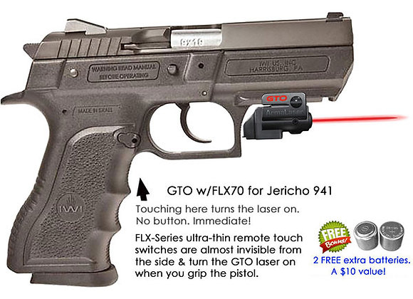 ArmaLaser GTO Red Laser Sight with Flex Touch Activation for Jericho 941