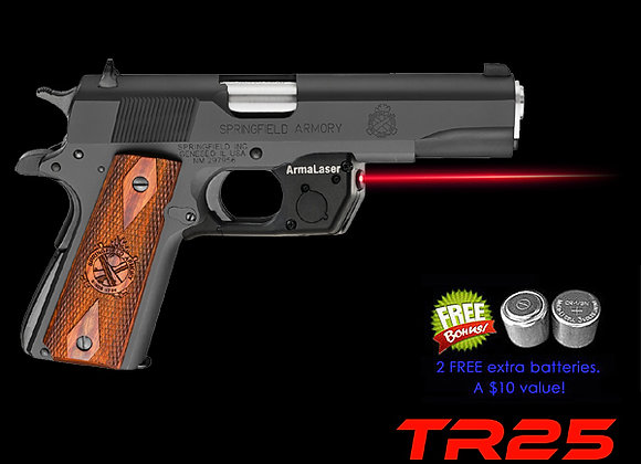 TR25 Red Laser Sight for 1911 Full Size & Compact Springfield & Kimber Pistols