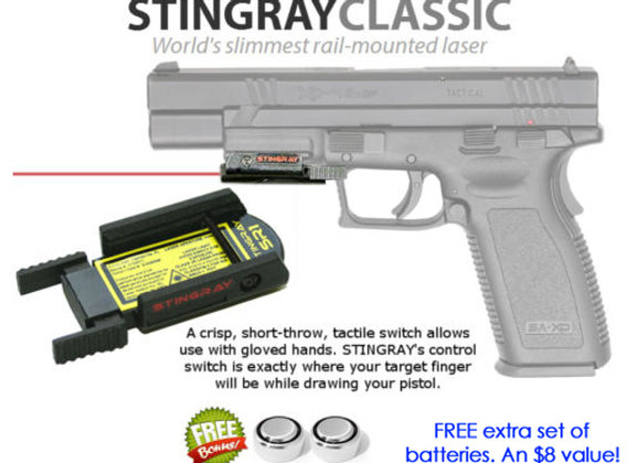 ArmaLaser Stingray RED LASER for Springfield XDM 4.5 / 5.25 XD 4 / 5 / 2.4, 1911
