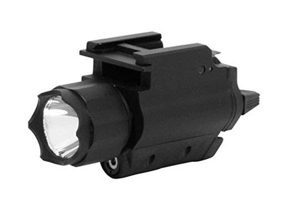Universal GREEN Laser Sight & LED Light w/Quick Release for Pistols w/ Rails