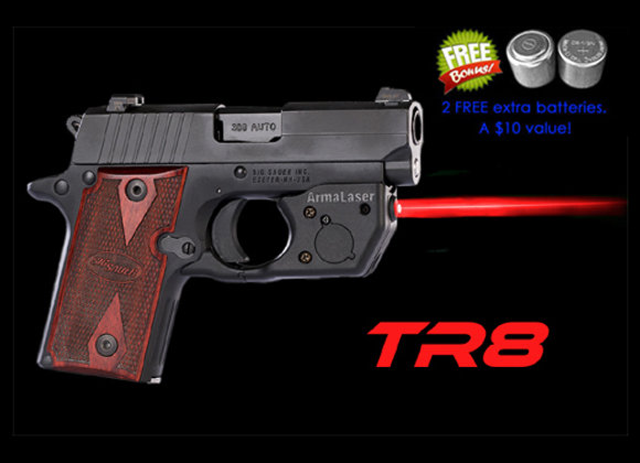 TR8 Red Laser Sight for SIG Sauer® P238 & P938 with Grip Touch Activation