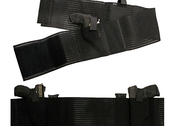 Mesh Belly Band Dual Pistol Holster w/ Magazine Pouches