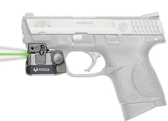 "Green Laser & LED Light for Pistols w/ 1"" Clearance on the Rail by Viridian"