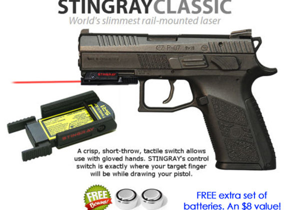 ArmaLaser Stingray RED LASER for CZ P-07, P0-9, P-01, P-06, 75 SP-01 Guns
