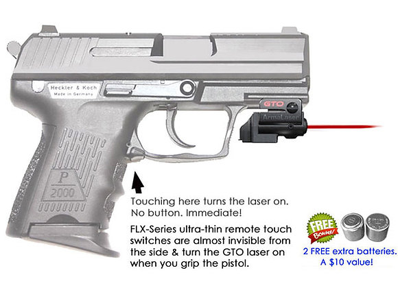 ArmaLaser GTO Red Laser Sight with Flex Touch Activation for H&K Pistols