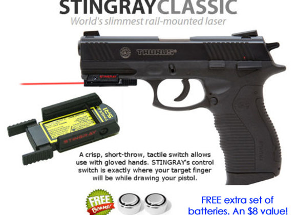 ArmaLaser Stingray Red Laser Sight for Taurus 809, 840, 845, PT92AF, PT 911
