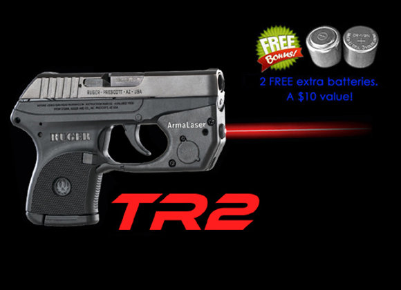 TR2 Red Laser Sight for Ruger® LCP® with Grip Touch Activation