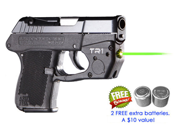 TR1-G Green Laser Sight for Kel-Tec® P-3AT, P-32® with Grip Touch Activation