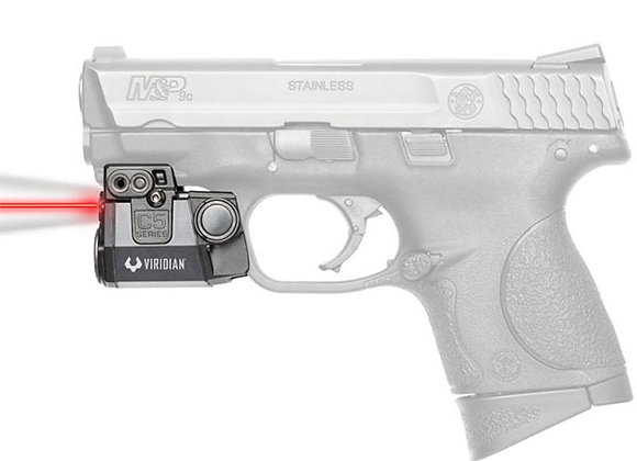 """Red Laser & LED Light for Pistols with 1"""" Clearance on the Rail by Viridian"""