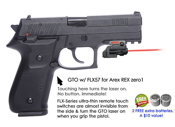 ArmaLaser GTO Red Laser Sight with Flex Touch Activation for Arex REX zero 1