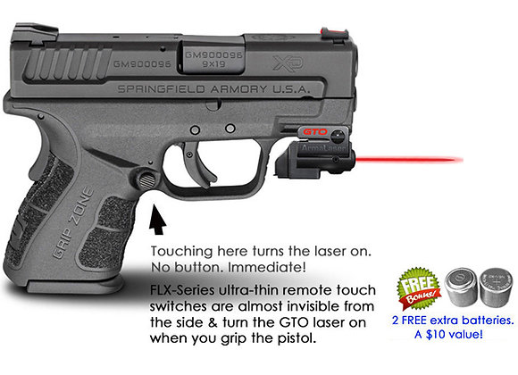 ArmaLaser GTO Red Laser Sight with Flex Touch Activation for Springfield Pistols