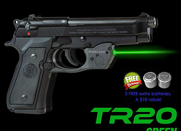 TR20-G Green Laser Sight for Beretta® 92, 96, 92FS, 96FS, M9
