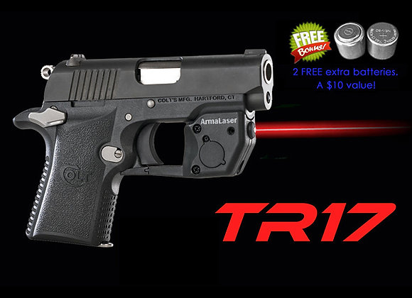 TR17 Red Laser Sight for Colt Mustang XSP with Grip Touch Activation