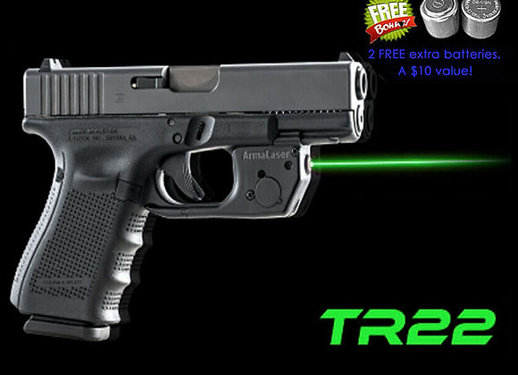 ArmaLaser TR22G GREEN Laser for Gen 3 & up GLOCK 17 19 22 23 31 32 34 35 37 & 38