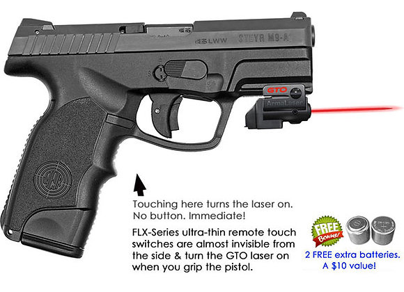 ArmaLaser GTO Red Laser Sight with Flex Touch Activation for Steyr Pistols