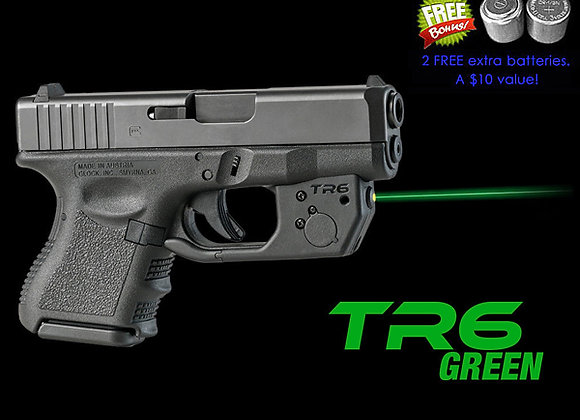 TR6-G Green Laser Sight for Glock 26, 27 & 33 with Grip Touch Activation