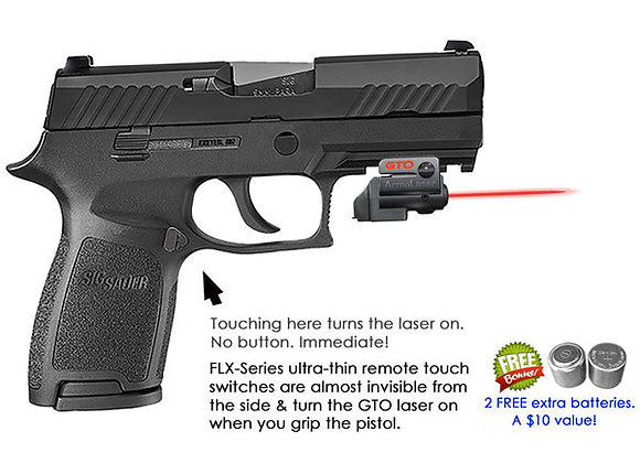 ArmaLaser GTO Red Laser Sight with Flex Touch Activation for Sig Sauer