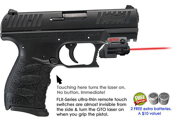 ArmaLaser GTO Red Laser Sight with Flex Touch Activation for Walther Pistols