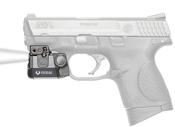"""LED Tactical Light for Pistols with 1"""" Clearance on the Rail by Viridian"""