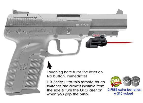 ArmaLaser GTO Red Laser Sight with Flex Touch Activation for FN Pistols