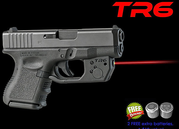 TR6 Red Laser Sight for Glock 26, 27 & 33 with Grip Touch Activation
