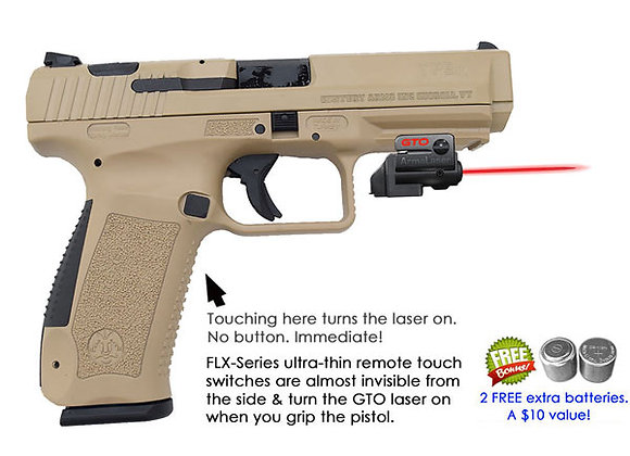 ArmaLaser GTO Red Laser Sight with Flex Touch Activation for Century Pistols