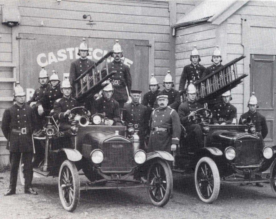 CC Firebrigade outside Town Hall Station