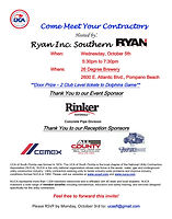 Come Meet Your Contractors OCT 5th