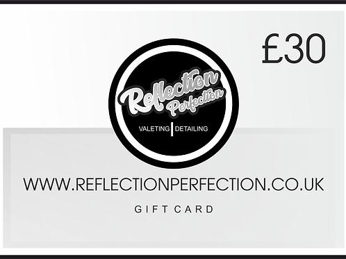 £30 Gift Card Voucher