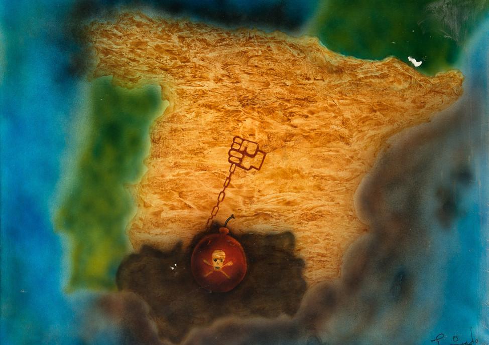 El Cabril, Andalucia Condenada, 1989 spray-paint and acrylic on canvas