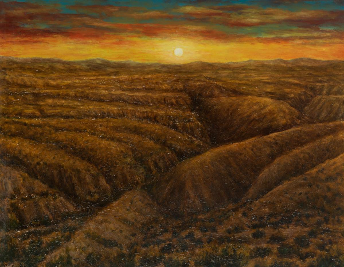Paisaje y Tabernas, 1993 oil on canvas