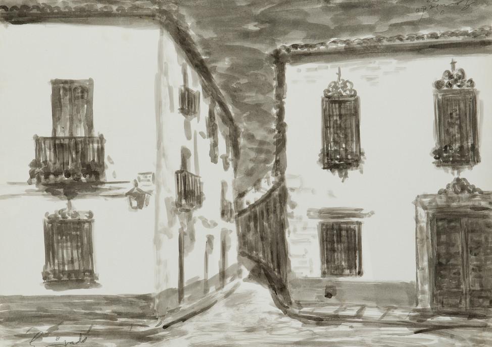 Calles del Albayzín, Granada, 1985 water colour  paper