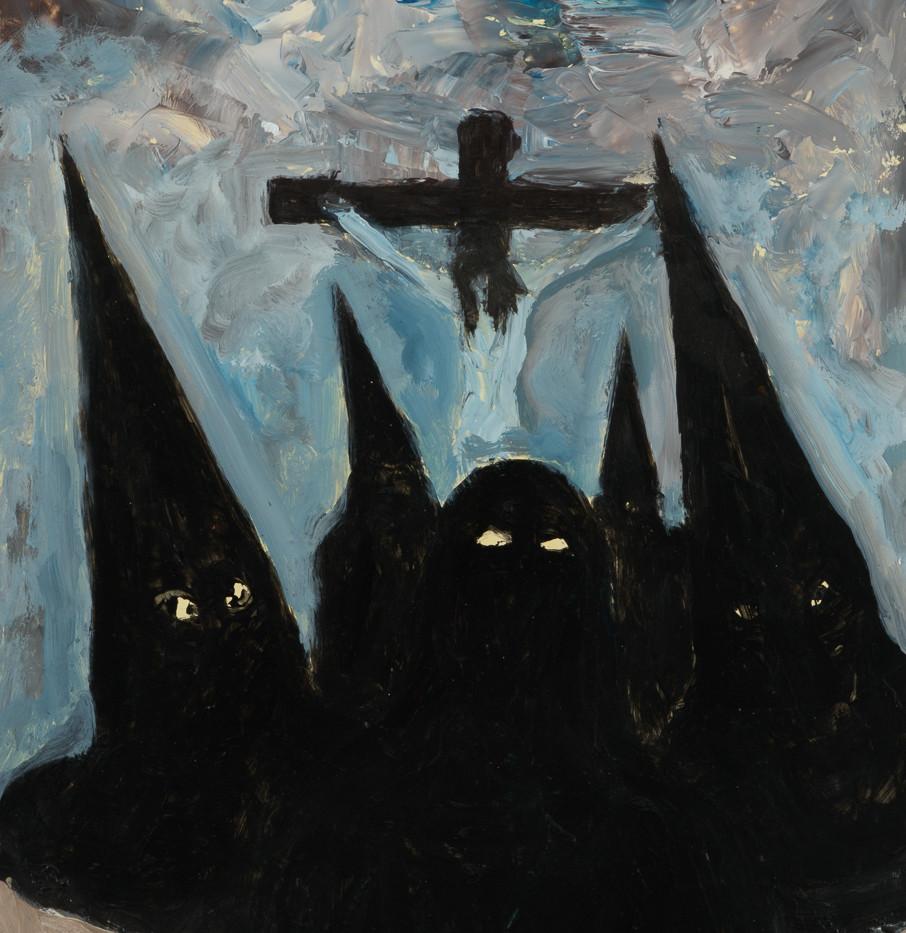 Rostros en la oscuridad, 1978 acrylicon paper