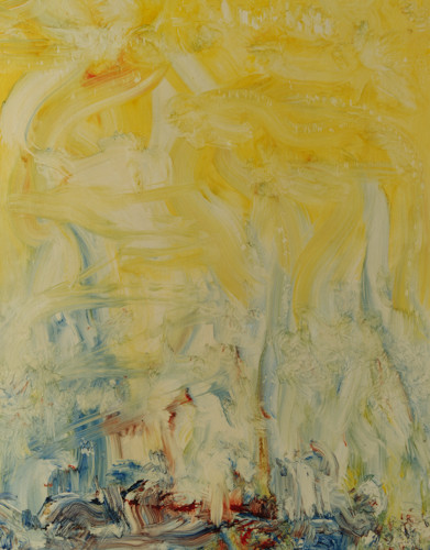 Landscape 1967, oil on board