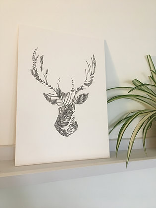 Stag Leaf A4 Print