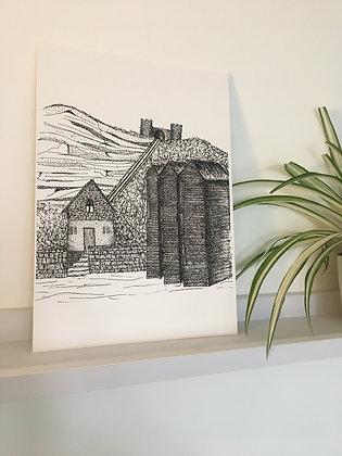 East Hill A4 Print