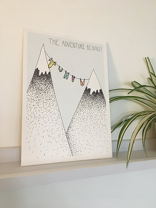 New Baby: The Adventure Begins A4 Print