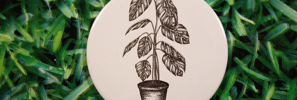 Cheese Plant Compact Mirror