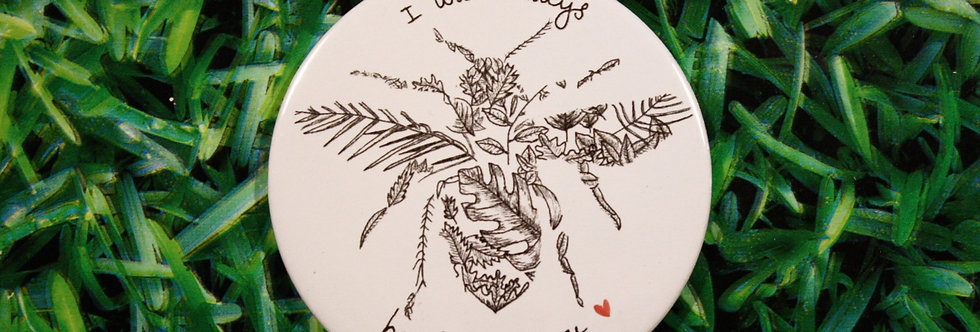 Bee Leaf Compact Mirror