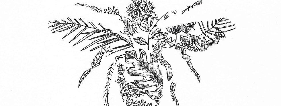 Bee Leaf Postcard