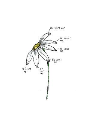 Daisy A4 Print