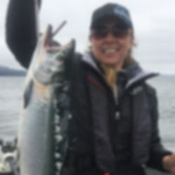 Large Salmon Caught Near Lincoln City Or